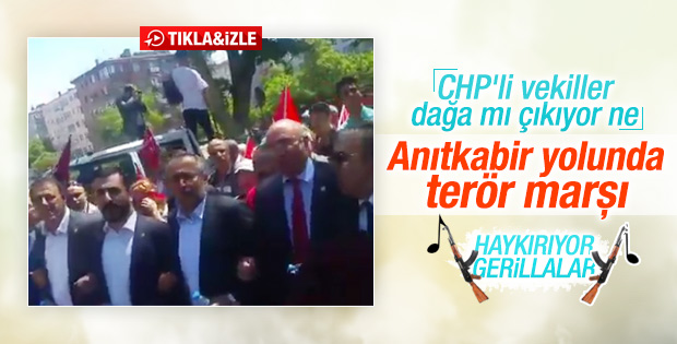 CHP'li vekillerden terör marşı