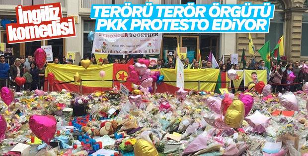 İngiltere'de terör sempatizanları terörü protesto etti