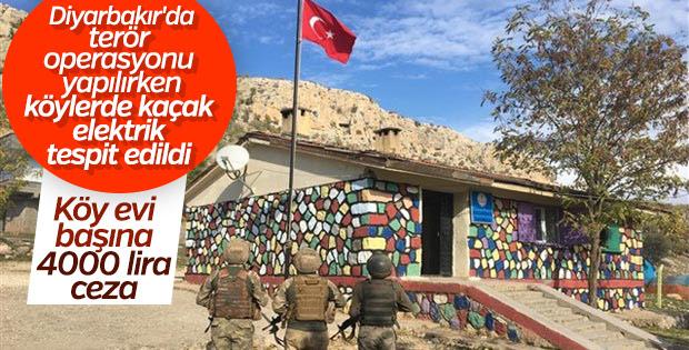 Diyarbakır'da terör ve kaçak elektrik operasyonu