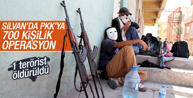 Diyarbakır Silvan'da terör örgütü operasyonu