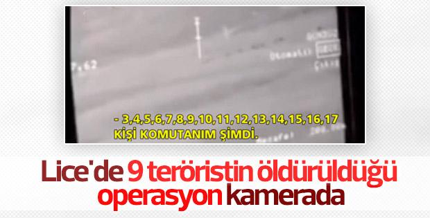 Diyarbakır Lice'de teröristlerin vurulma anı
