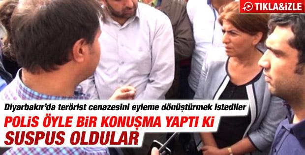 Terörist cenazesinde polisten BDP'lileri susturan konuşma