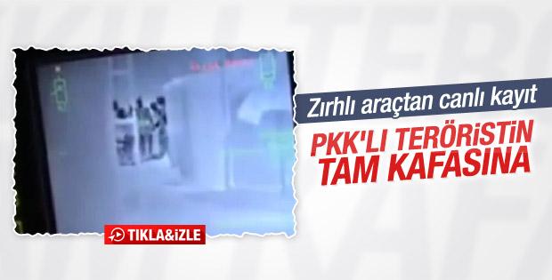 Hakkari'de teröristin öldürülme anı kamerada