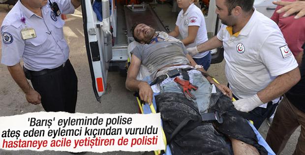 Adana'da polise ateş eden terörist vuruldu