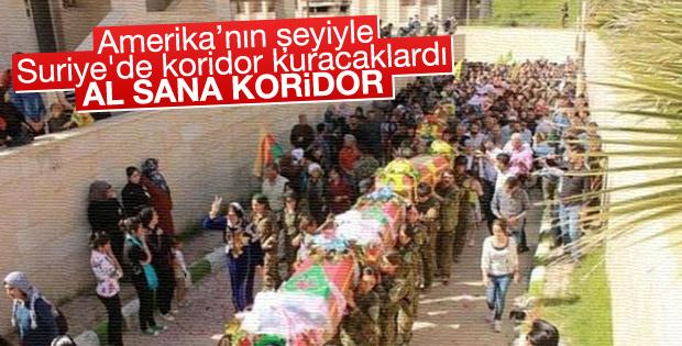 ABDnin vurduğu YPGliler için cenaze töreni