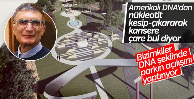 Çankaya'da DNA'ya benzeyen Aziz Sancar Parkı açıldı