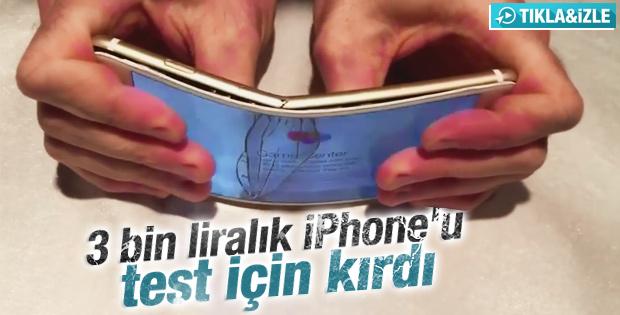 iPhone 6'yı eliyle kıran adam