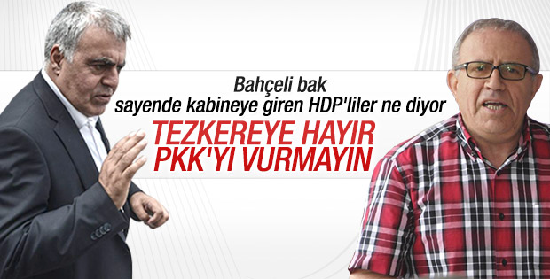 HDP'li bakanlar tezkereye hayır diyecek