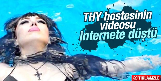 THY'den kovulan hostesin videosu ortaya çıktı İZLE