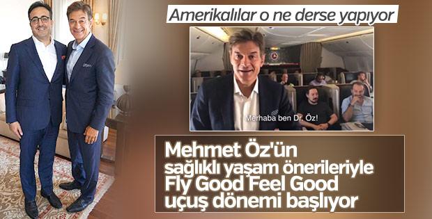 Doktor Öz THY uçağında havadan yayın yaptı