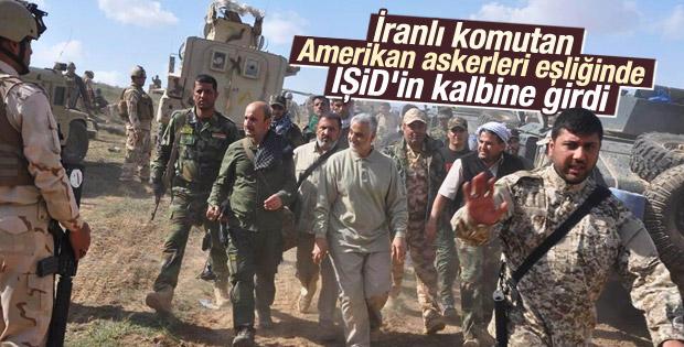İranlı General Süleymani Tikrit cephesinde