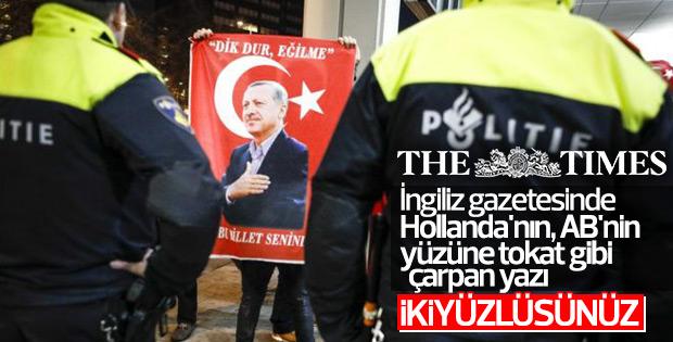 Türkiye-Hollanda gerilimi İngiliz basınında