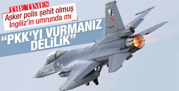 İngiliz gazetesi Times PKK'nın vurulmasına tepkili