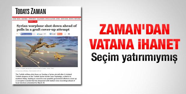 Today's Zaman'dan skandal Suriye manşeti