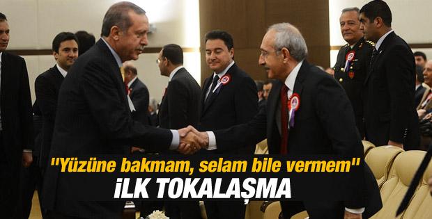 Kılıçdaroğlu ile Erdoğan el sıkıştı İZLE