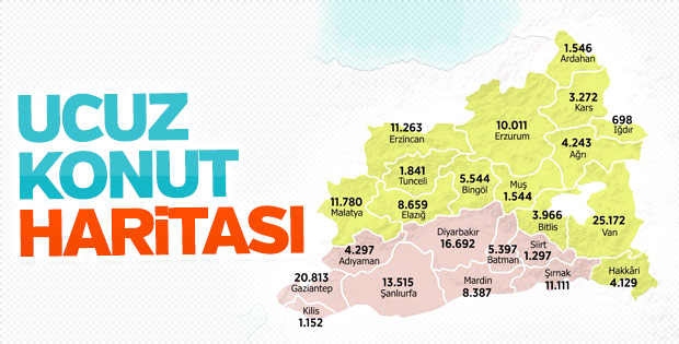 Doğu ve Güneydoğu'ya 176 bin konut