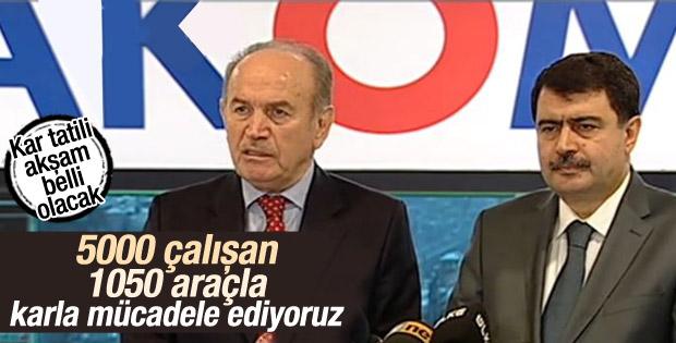 Topbaş ve Şahin'den İstanbul'da karla mücadele açıklaması