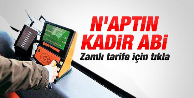 İstanbul'da toplu taşıma ücretleri zamlandı