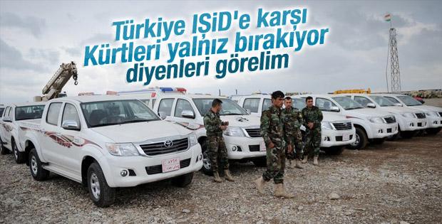 Türkiye'den Peşmergeye araç yardımı