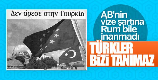 AB'nin Türkiye'ye vize şartı Rum medyasında