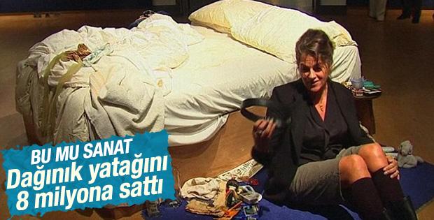 Tracey Emin'in yatağı Tate'de sergileniyor