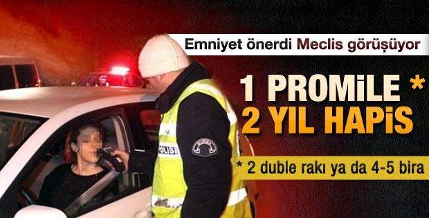 1 promile 2 yıl hapis cezası geliyor