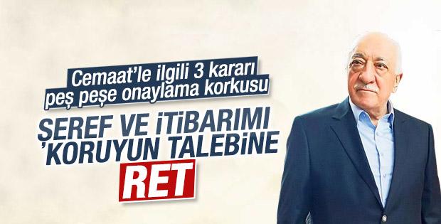 Anayasa Mahkemesi Gülen'in başvurusunu reddetti