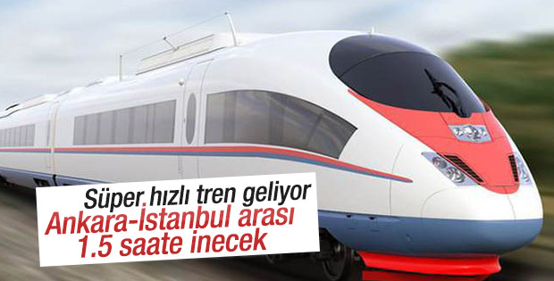 Ankara-İstanbul arası 1.5 saate iniyor