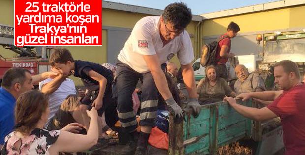 Tren faciasında yardıma koşan köylüler