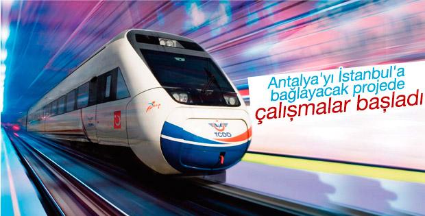 Antalya hızlı trenle İstanbul'a bağlanacak