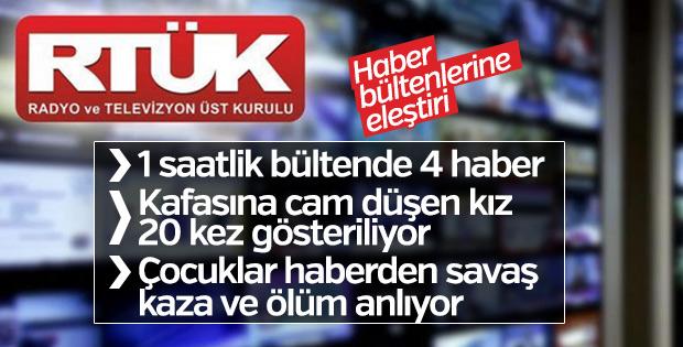 RTÜK'ten haber bültenlerine eleştiri