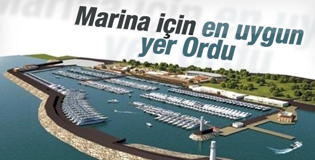 Marina için en uygun yer Ordu