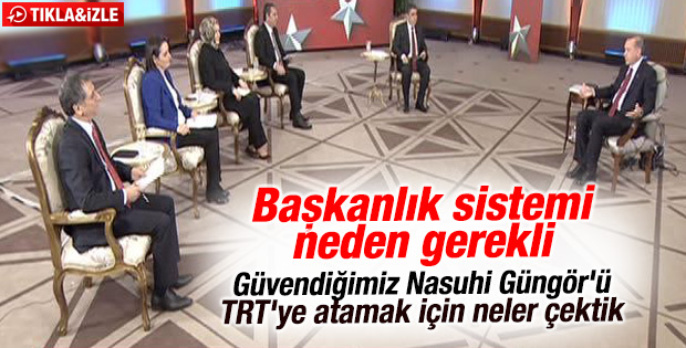 Cumhurbaşkanı Erdoğan TRT Haber'de konuştu