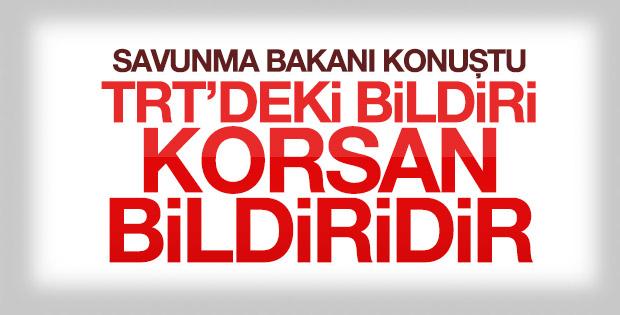 Fikri Işık: TRT'de okunan bildiri korsandır