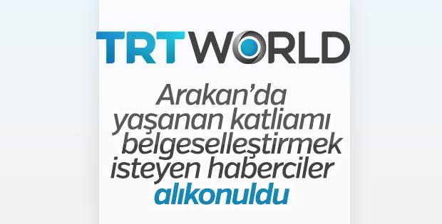 Myanmar'da çekim yapan TRT WORLD ekibine gözaltı