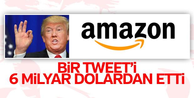 Trump'ın tweeti Amazon'a 6 milyar dolar kaybettirdi