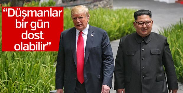 Kim ile görüşen Trump'tan dostluk vurgusu