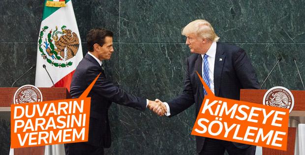 Trump'tan Meksika lideri Nieto'ya sınır duvarı uyarısı