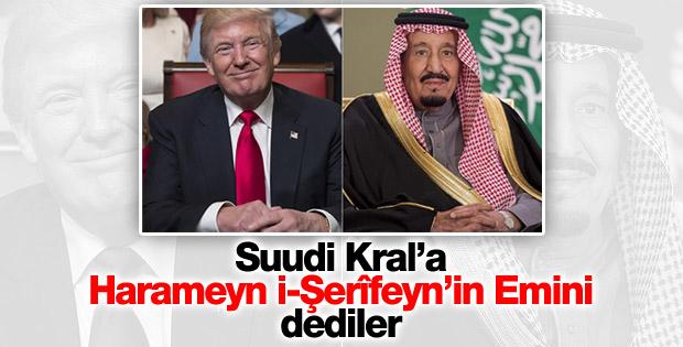 ABD Başkanı Trump Suud Kralı Selman'la görüştü