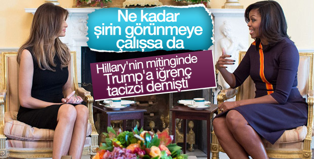 Michelle Obama-Melania Trump görüşmesi