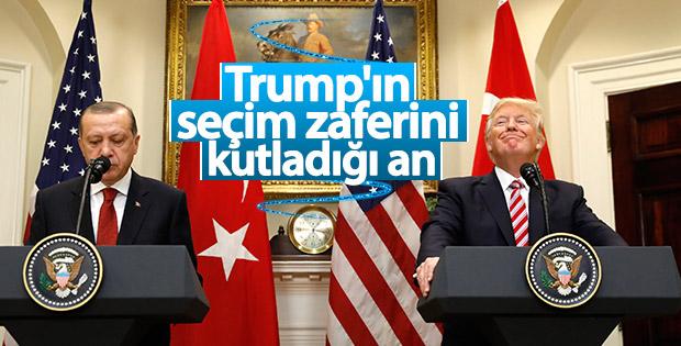 Erdoğan tebrik etti, Trump'ın yüzü güldü