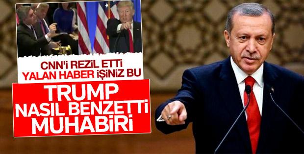 Erdoğan Trump'ın CNN muhabirini fırçalamasına değindi