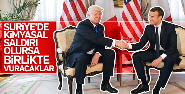 Fransa ile ABD Suriye'yi birlikte vuracak
