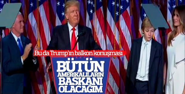 Donald Trump: Tüm Amerikalıların başkanı olacağım