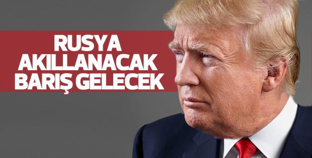 Donal Trump'tan barış mesajı