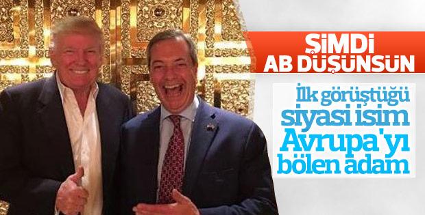 İngiliz sağcı lider ile Trump'ın asansör selfie'si