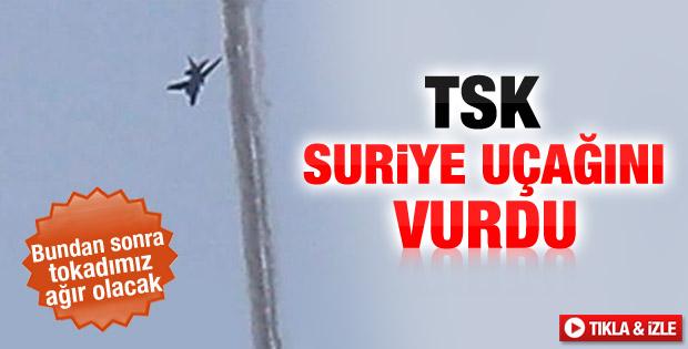 TSK Suriye uçağını düşürdü