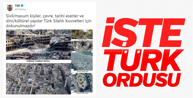 TSK Afrin'in son durumunu paylaştı, mesaj verdi