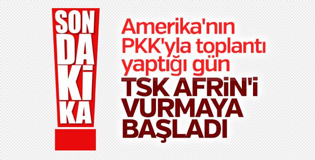 TSK Afrin'de PYD'yi vurdu