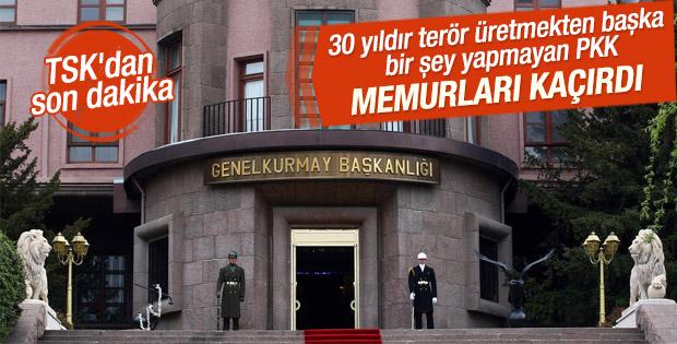 TSK'dan PKK'nın kaçırdığı gümrük memurları için açıklama
